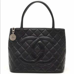 CHANEL Classic Style tote bag caviar skin